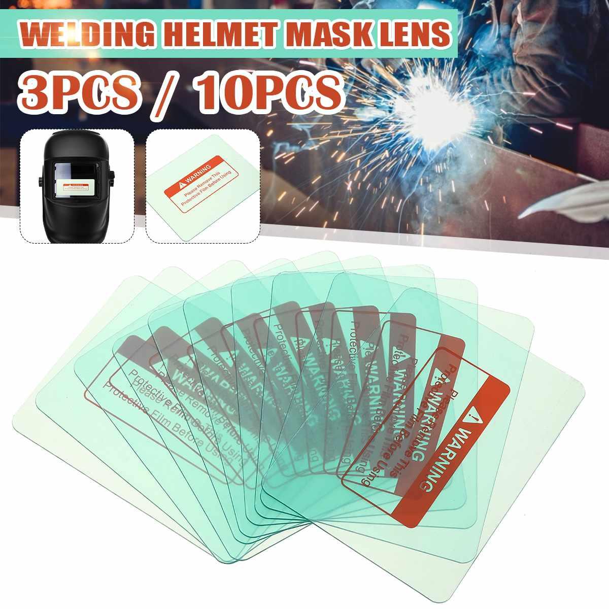 3pcs/10pcs 116 X 90mm Outside Protective Plastic Cover Transparent Welding Helmet Glass Plate Lens For Darkening Helmet Welding