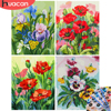 HUACAN Oil Painting By Numbers Flowers Kit Drawing On Canvas Wall Art HandPainted Home Decor DIY Gift