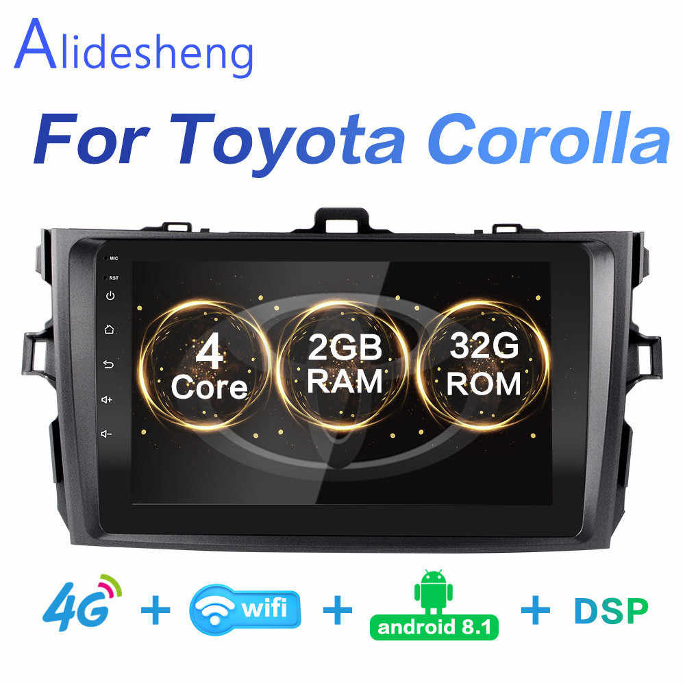 2G + 32G DSP 2 din Android 8,1 4G Red auto Radio Multimedia reproductor de vídeo para Toyota Corolla E140/150/2006, 2007-2011 WiFi BT