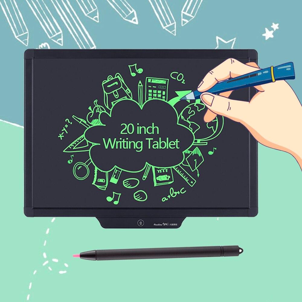 Tableta de escritura LCD de 20 pulgadas, tableta de dibujo Digital, almohadillas de escritura, portátil, tableta tipo pizarra electrónica, tablero ultrafino