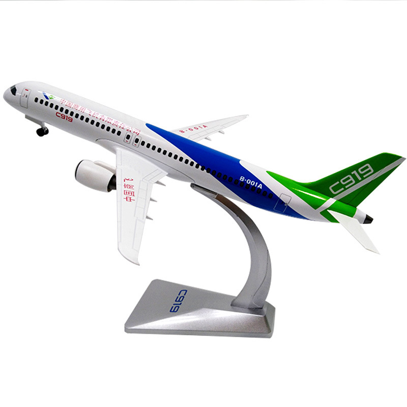 1/120 Scale Alloy Aircraft C919 COMAC Chinese Airplane Model Toys Children Kids Gift For Collection