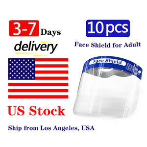 US Stock Full Face Shield Adult Protective Masks Protector Facial Transparente Safety Anti-Saliva Windproof Dustproof Shield