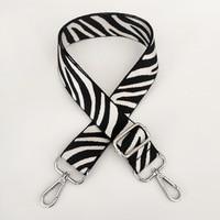 Crossbody Nylon Tasche Strap Einstellbare DIY Handtaschen Strap Frauen Nylon Zebra-Streifen Schulter Gepäck Tasche Griffe Zubehör