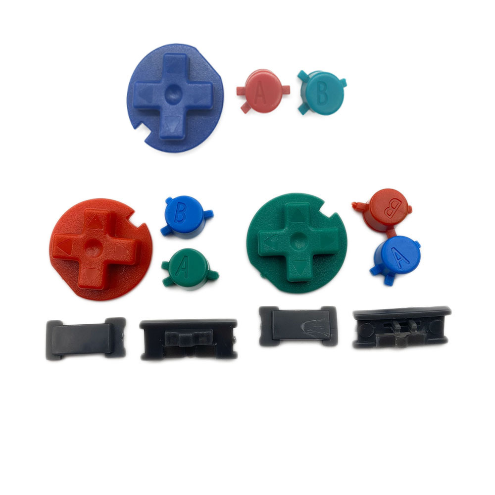 Plastic Colorful Button Kit Keypads for Gameboy Color Buttons for GBC D Pads A B Buttons(China)