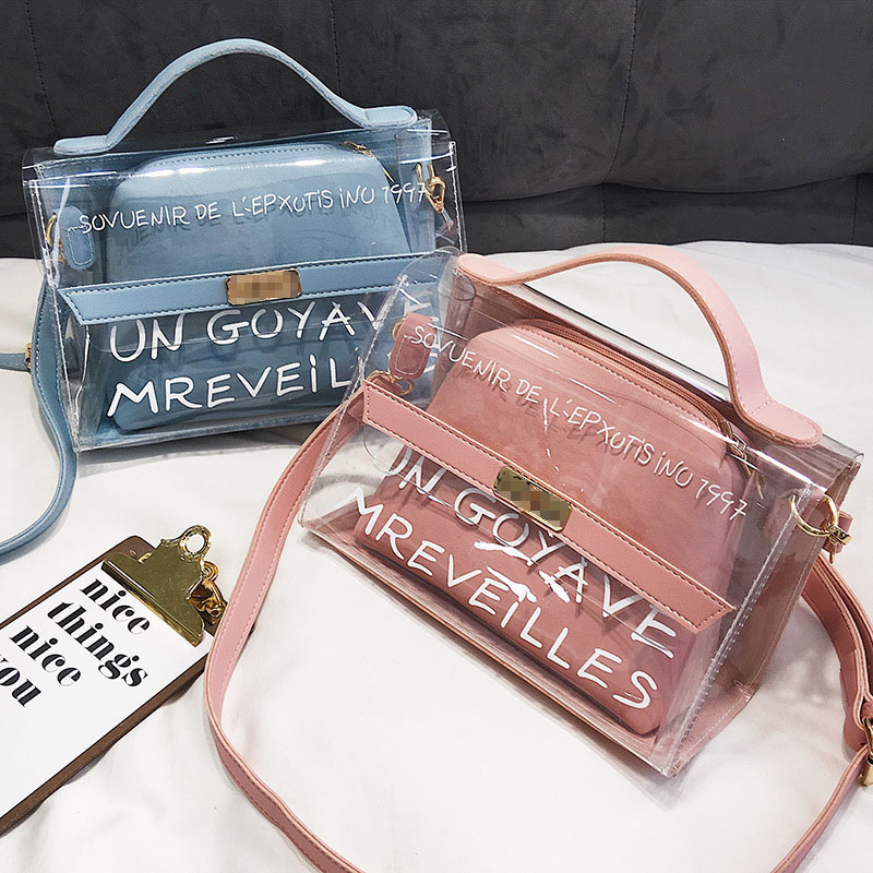 2019 Transparent Bag Brand Women PVC Fashion Clear Bag Women Handbags Bolsa Feminina Shoulder Bag Crossbody Bag Bolsa