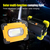 30W USB6 Leds Solar Portable Rechargeable Flood Light Spot Work Light Brightness Camping Hiking Survival Hunting Outdoor Lamp