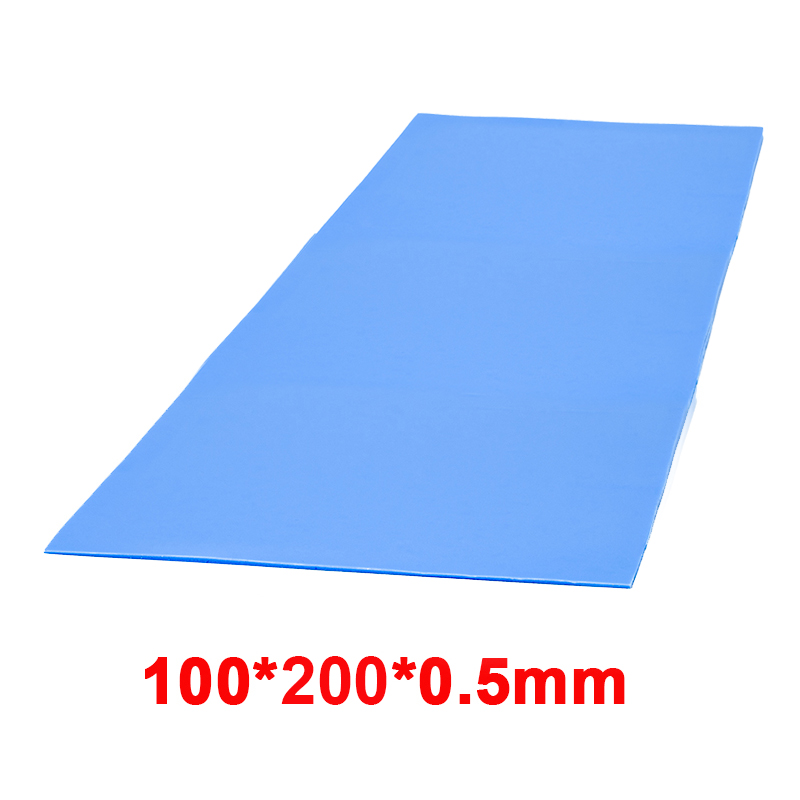 High quality 6.0 W/mK 100*200mm Thermal conductivity CPU Heatsink Cooling Conductive Silicone Pad Thermal Pads 5