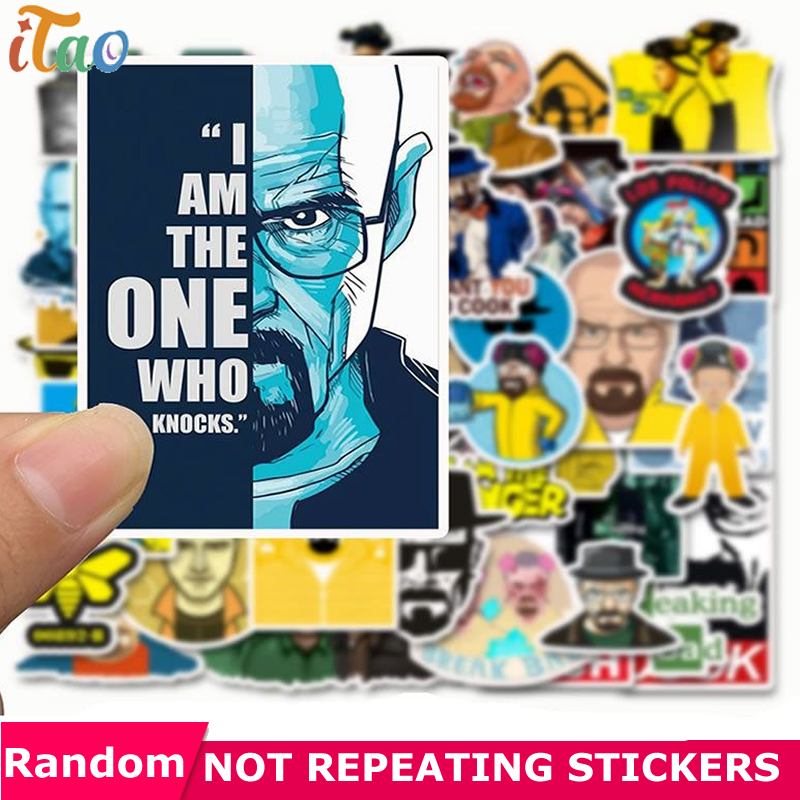 10/20/30/40/50PCS Cartoon Breaking Bad Stickers Waterproof PVC Skateboard Motorcycle Luggage Laptop Snowboard Stickers Kids Toys