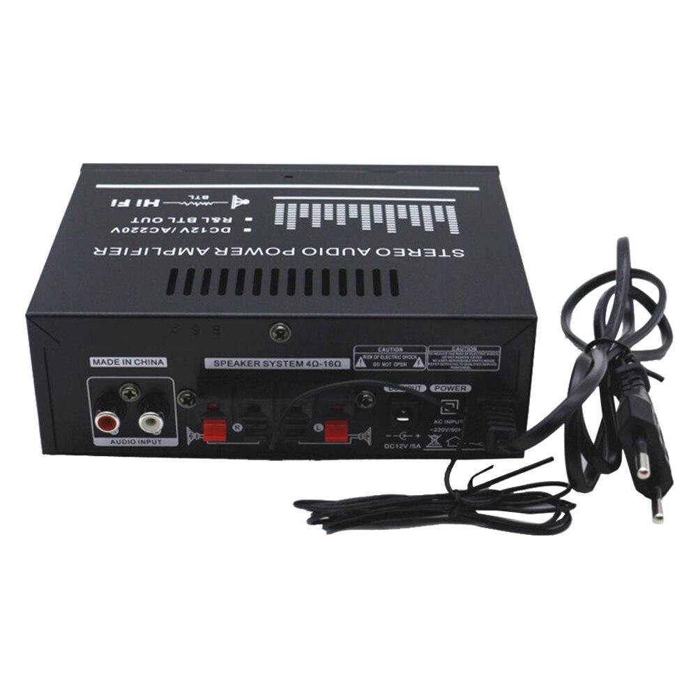 DC 12V дистанционное управление портативный домашний HiFi стерео U диск Bluetooth FM Усилитель звука для автомобиля 2,0 канальный музыкальный плеер с динамиком мини
