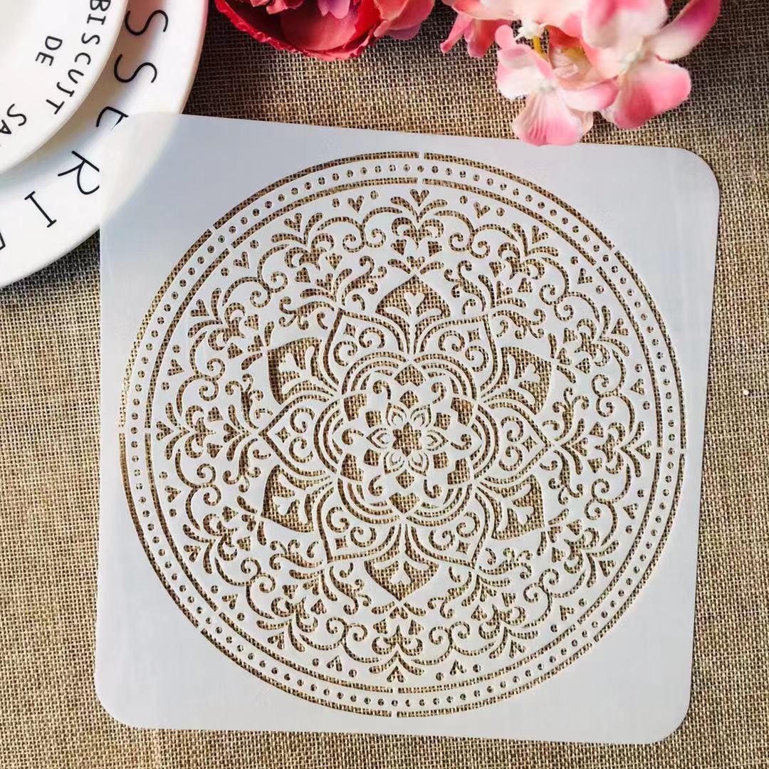 S M L Mandala Circle No. 9 DIY Layering Stencils Painting Scrapbook Coloring Embossing Album Decorative Template