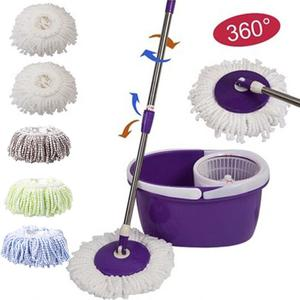 Replacement 360 Rotating Head Easy Microfiber Spinning Floor Mop Head for Housekeeper Home Floor Cleaning Mop