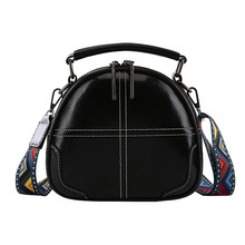 Women PU Leather Messenger Shoulder Bags Crossbody Bags for Women 2020 Colorful Strap Bag Lady Hand Bags Circle Bag New Fashion
