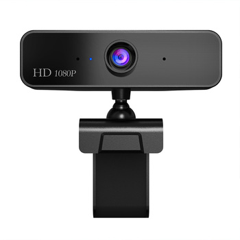 USB HD1080P Webcam Built-in Microphone Video Call Computer Camera Stand for Microsoft HP Computer with Microphone