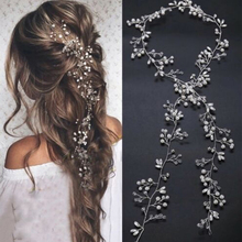 Headwear Hairpins Vine-Accessories Wedding-Jewelry Crystal Bridal-Tiaras Pearl Diamante