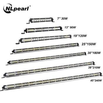 цена на Nlpearl Ultra Slim 7-50inch Led Work Light 12V 24V Light Bar/Work Light Combo LED Bar Offroad For Trucks 4X4 UAZ Off Road ATV