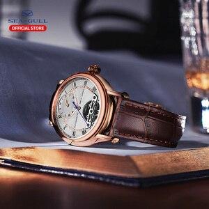 Image 4 - Martı erkek saati çift zaman dilimi kemer su geçirmez otomatik mekanik saat Master serisi 519.11.6041