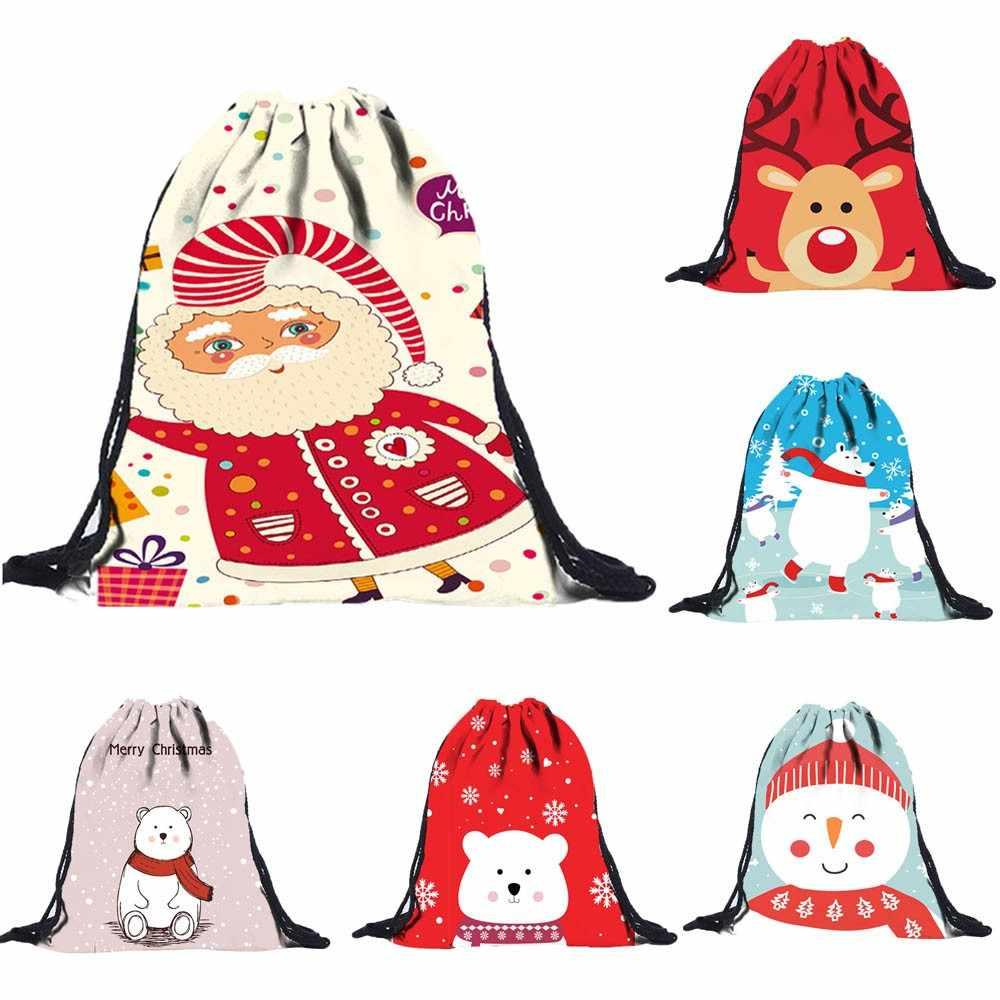 Унисекс 3D цифровая печать Draw карманный рюкзак ранец сумка на плечо Рождество Лидер продаж Бесплатная доставка Прямая поставка T822