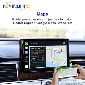 Image 2 - Joyeauto אלחוטי Apple Carplay לאאודי A1 A3 A4 A5 A6 A7 A8 Q3 Q5 Q7 C6 MMI 3G 2G RMC 2005  2018 iOS13 אנדרואיד מראה רכב לשחק