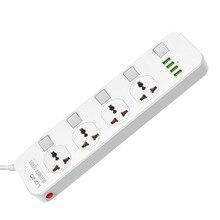 Điện Thông Minh Dây Tăng Bảo Vệ 4AC Unicersal Ổ Cắm Công Tắc Riêng 4USB Adapter Sạc Điện Thoại Dây Nối Dài 2M Ổ Cắm