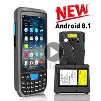 新産業 pda のアンドロイド 8.0 携帯電話スキャナ端子端子と 1d レーザー 2D QR スキャナリーダー -