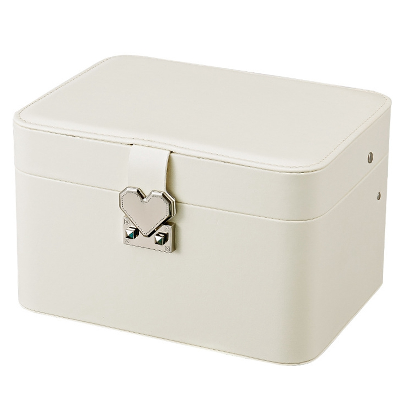 Casegrace Fashion Design Leather Jewelry Box Jewelry Case Jewelry Package Storage Large Space Jewelry Ring Necklace Bracelet