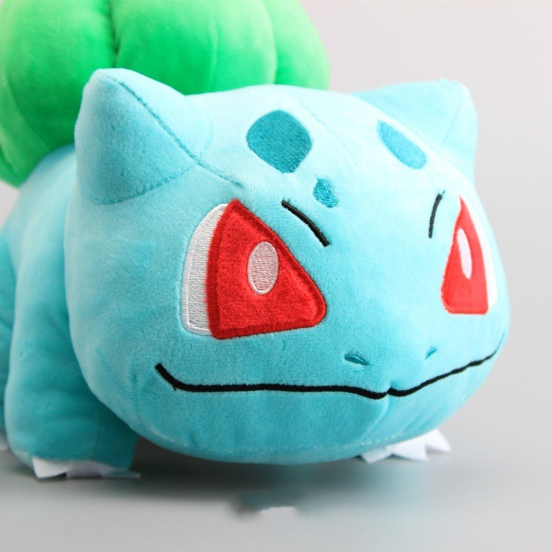 30CM High-quality Animals Bulbasaur Plush Soft Toys Sleeping Pillow Doll For Kid Birthday Gifts image