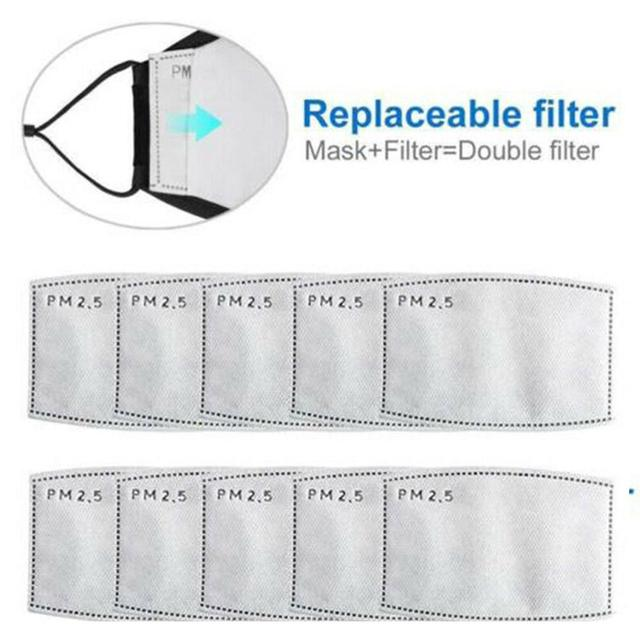 Anti Dust PM2.5 Mouth Mask With 2 Replaceable Filters Breathable Cotton Face Mask Washable Respirator Mouth-mask Adult Mask 4