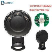 Okeytech 3 botões com 315/315lp/433/868mhz controle remoto chave do carro para bmw mini cooper com id46 7945/7952 chip carro remoto chave