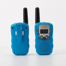 AMZ hot sale Long Range kids walkie talkie T388 2 Pieces Pack with LCD Flashlight Kids Walkie Talkies for kids