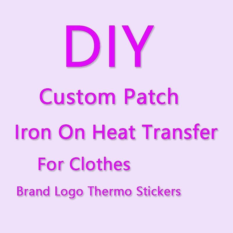 Маленький размер таможни на передачах для одежды термо-Стикеры для одежды с логотипом бренда термонаклейка логотип бренда parch значок в поло...