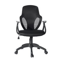 EGGREE Abraham Mesh Adjustable Swivel Office Chair for Living room, Office and Bedroom Black