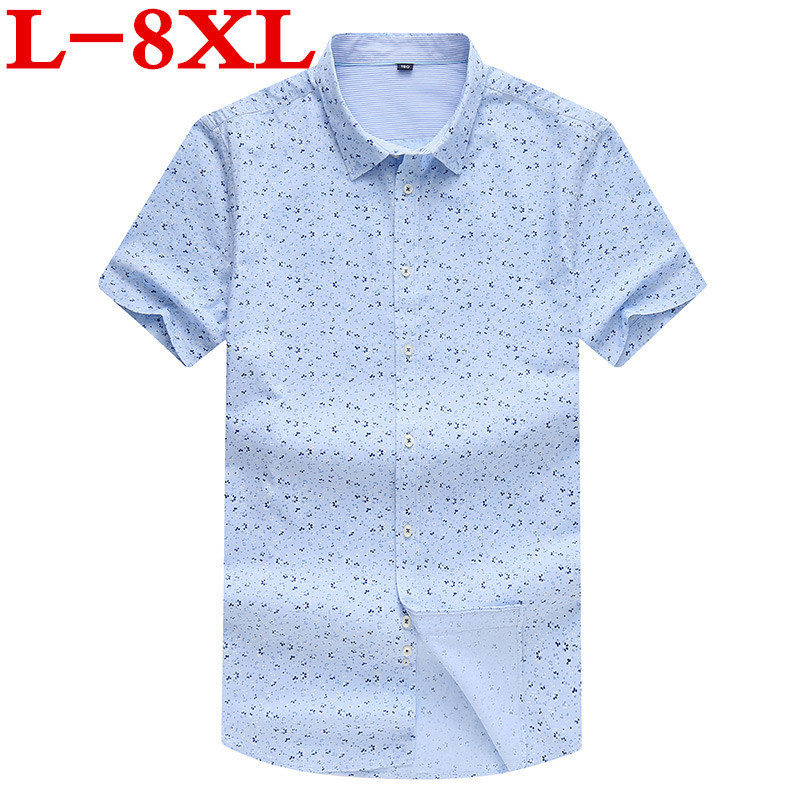 Plus Size 10XL 9X Big Size 8XL 7XL 6XL   New  Fashion Mens Short Sleeve Hawaiian Shirt Summer Casual Floral Shirts For Men