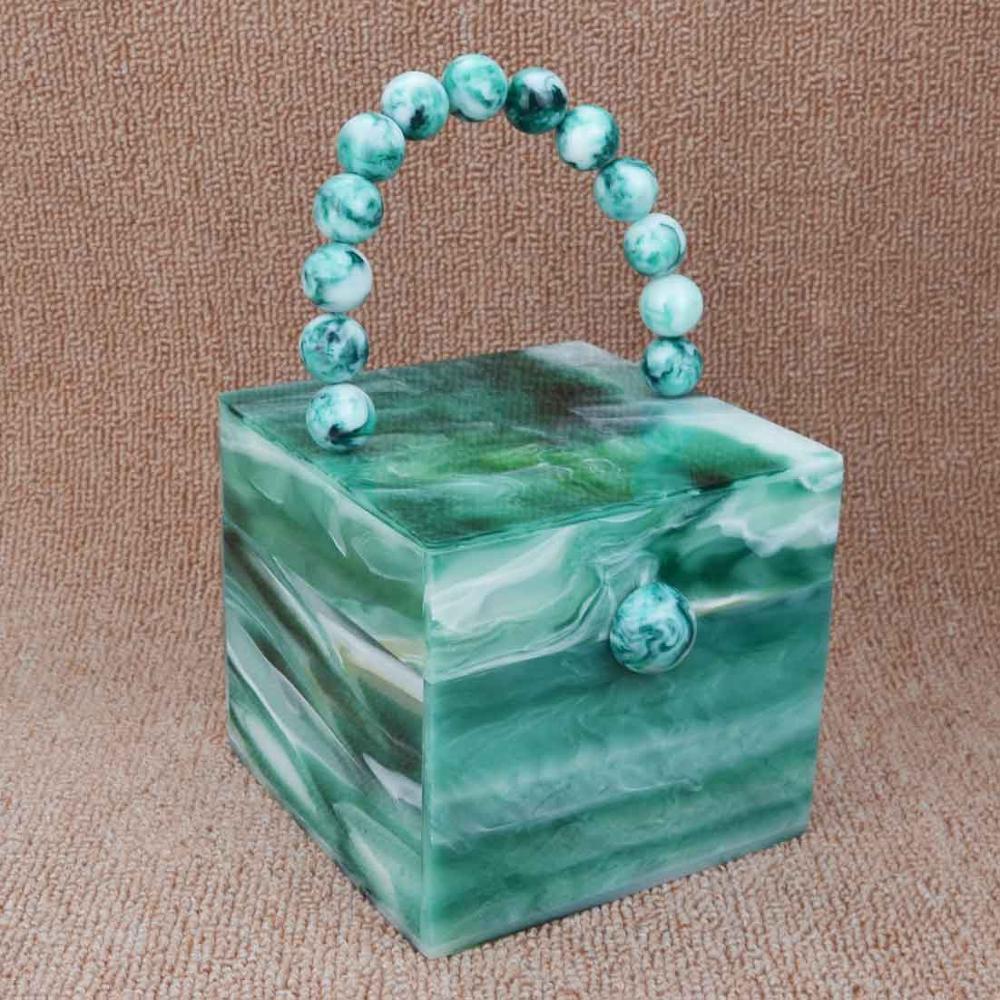Green Acrylic Flap Crossbody Bags Women Party Purse White Pochette Female Handbags