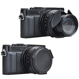 Image 2 - JJC automatyczna osłona obiektywu do Panasonic LUMIX DMC LX100 DMC LX100II LEICA D LUX (Typ 109) D LUX7 jako DMW LFAC1 osłona przeciwsłoneczna