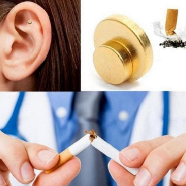 BellyLady 2Pcs Magnet Auricular Quit Smoking Acupressure Patch Stop Smoking Anti Smoke Patch Not Cigarettes Health Therapy 2