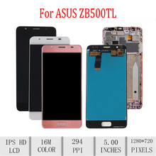 Original For ASUS ZenFone Pegasus 4A ZB500TL X00KD LCD Display Touch Screen Digitizer Assembly For Asus ZB500TL LCD with Frame