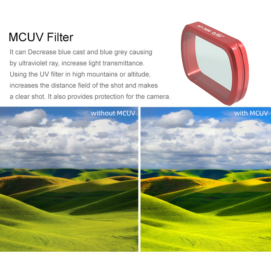 MCUV ND UV CPL Filter Adjustable MCUV CPL //ND4 8 16 32 64-PL //ND4 8 16 32 64 Lens Filter for DJI OSMO Pocket Gimbal Camera Filters