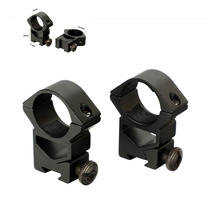 "ohhunt 25.4mm 1"" 2PCs High Profile Airgun Dovetail Rings Quick Release Nuts Rifle Scope Mount Rings Hunting Accessories(China)"