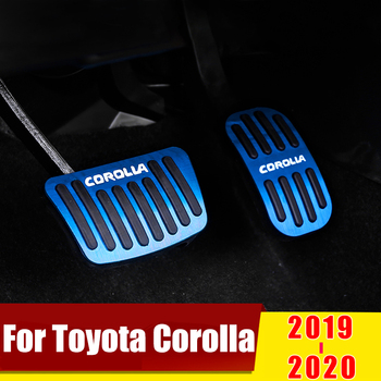 Accelerator car footrest pedal plate clutch accelerator brake pedal For Toyota Corolla 2019 2020 Accessories car styling refit accelerator oil footrest pedal plate clutch throttle brake treadle for bmw 5 5gt 6 7 series x3 x4 x5 x6 z4 lhd
