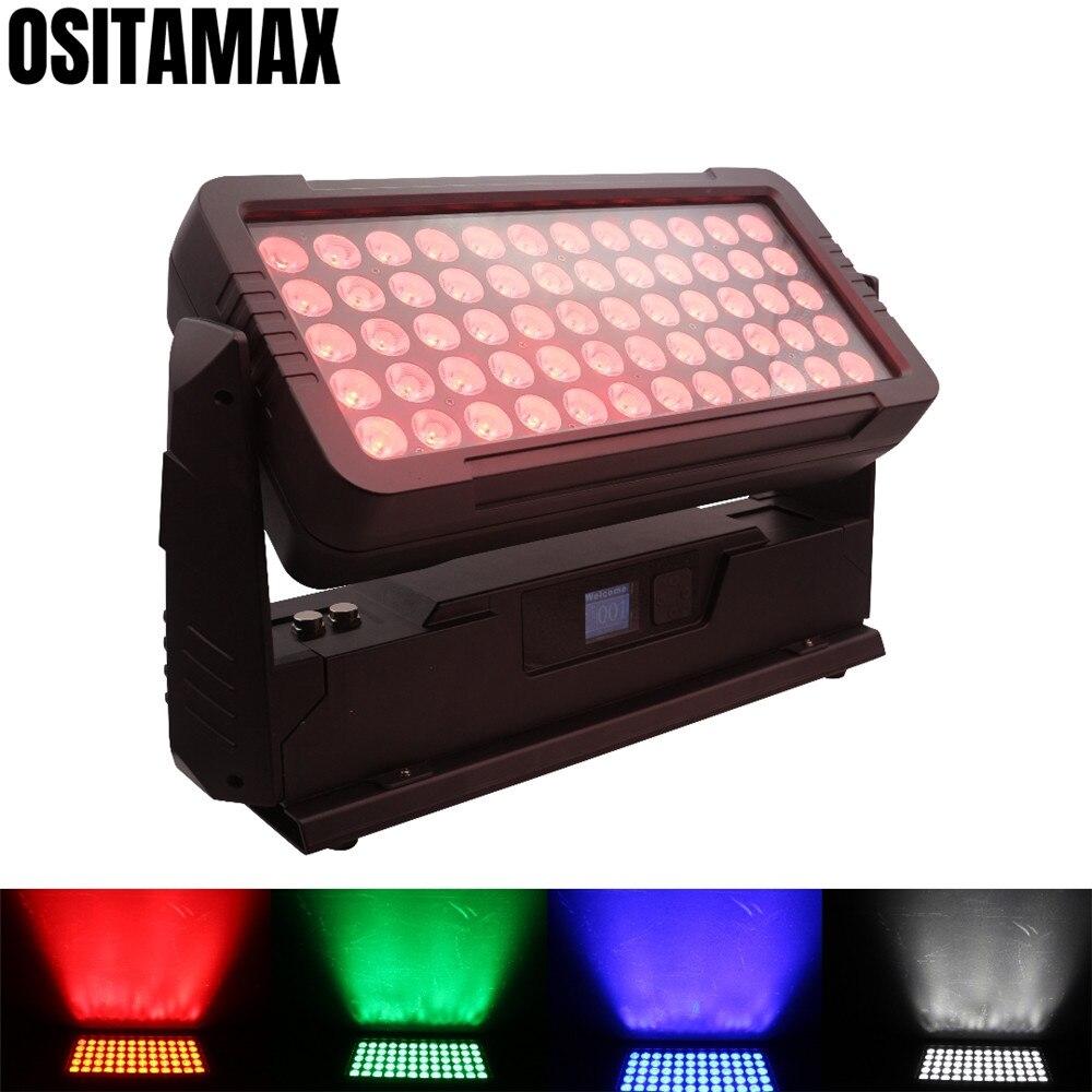 Nuovo 60x12w RGBW 4IN1 Mini Città Colore Luce Esterna della Rondella Piano Luce Effetto Strobo IP65 Della Rondella Della Parete luci
