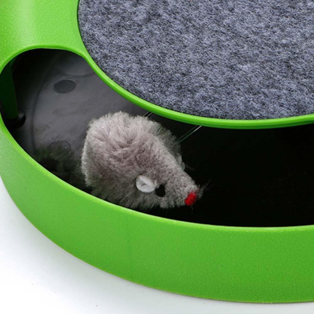 Green Shadowless Rat Carousel Pet Toy Cat Amusement Disk Crazy Cat Scratch Board Cat Toy Interactive Cat Toy Pet Supplies