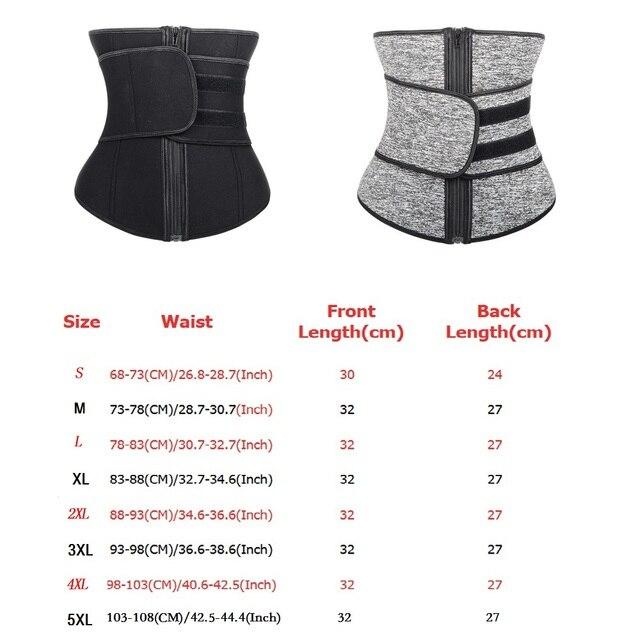 Waist trainer Slimming Belt Sauna Sweat Faja  tummy shaper Shaper Trimmer Straps Modeling Shapewear body binders shaper girdle 6