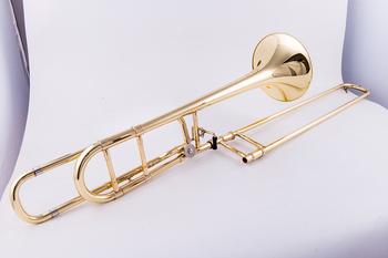 Profesjonalny puzon tenorowy NAIPUTESI NSL-600 B płaski zwrot F transpozycja puzon lakier złoty mosiądz z ustnikiem akcesoria tanie i dobre opinie Tenor spada dostroić b STAINLESS STEEL Złoty lakier Żółty mosiądzu