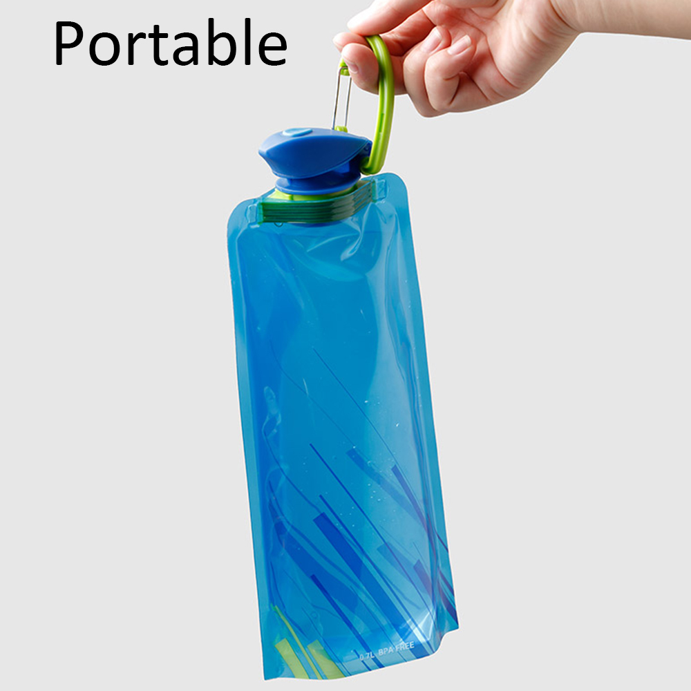 He511b050275749fdb45c678dbb3cbbffW 700ml Water Bottle Bags Environmental Protection Collapsible Portable Outdoor Foldable Sports Water Bottles For Hiking Camping