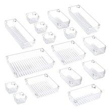 16 шт 5 размеров пластиковый органайзер для стола Набор ящиков