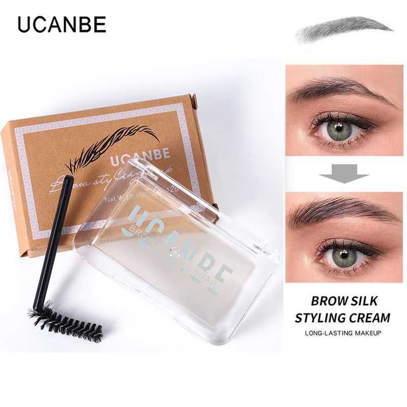 Ucanbe New 3D Feathery Brow Styling Soap Eye Brow Setting Gel Waterproof Makeup Long Lasting Natural Tint Eyebrow Wax Cosmetics