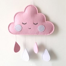 INS Baby Room Decor Clouds Hanging Ornaments Babykamer Decoratie Crib Bed Bell Baby Decoration Room DIY Water Droplets(China)