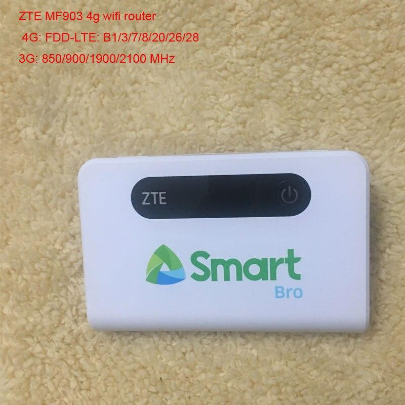 Desbloqueado zte mf903 4g wifi roteador power bank bolsos sem fio móvel wifi hotspot modem portátil com faixa de porta rj45 28 lan|null|   -