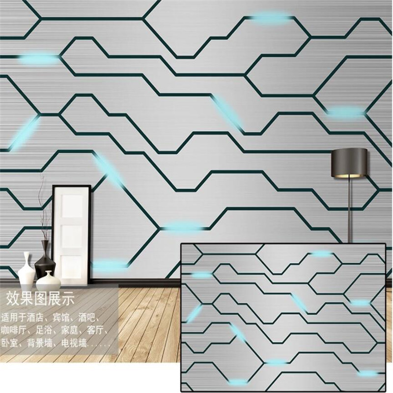 3D Circuit Diagram Industrial Decor Wall Paper 3D Technology Company Background Mural E-sports Hall Internet Bar KTV Wallpaper
