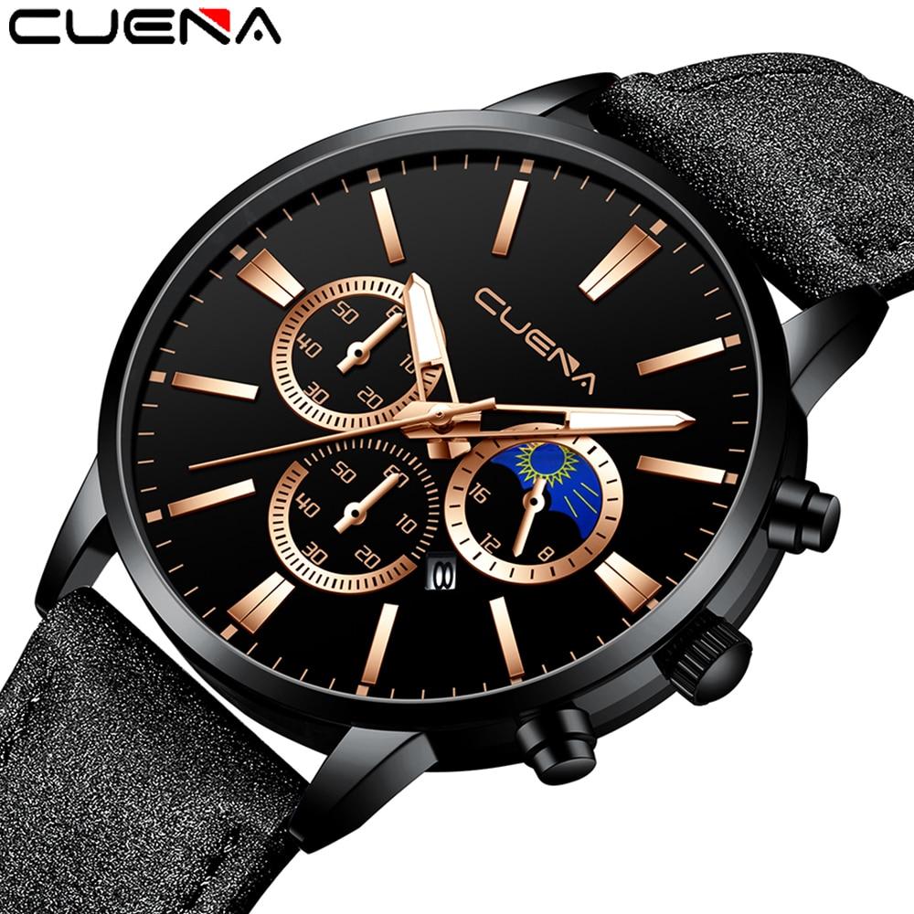 2020 New Watches Men Clock Business Leather Belt Man Watch Calendar Reloj Hombre Quartz Wristwatches Relogio Saat